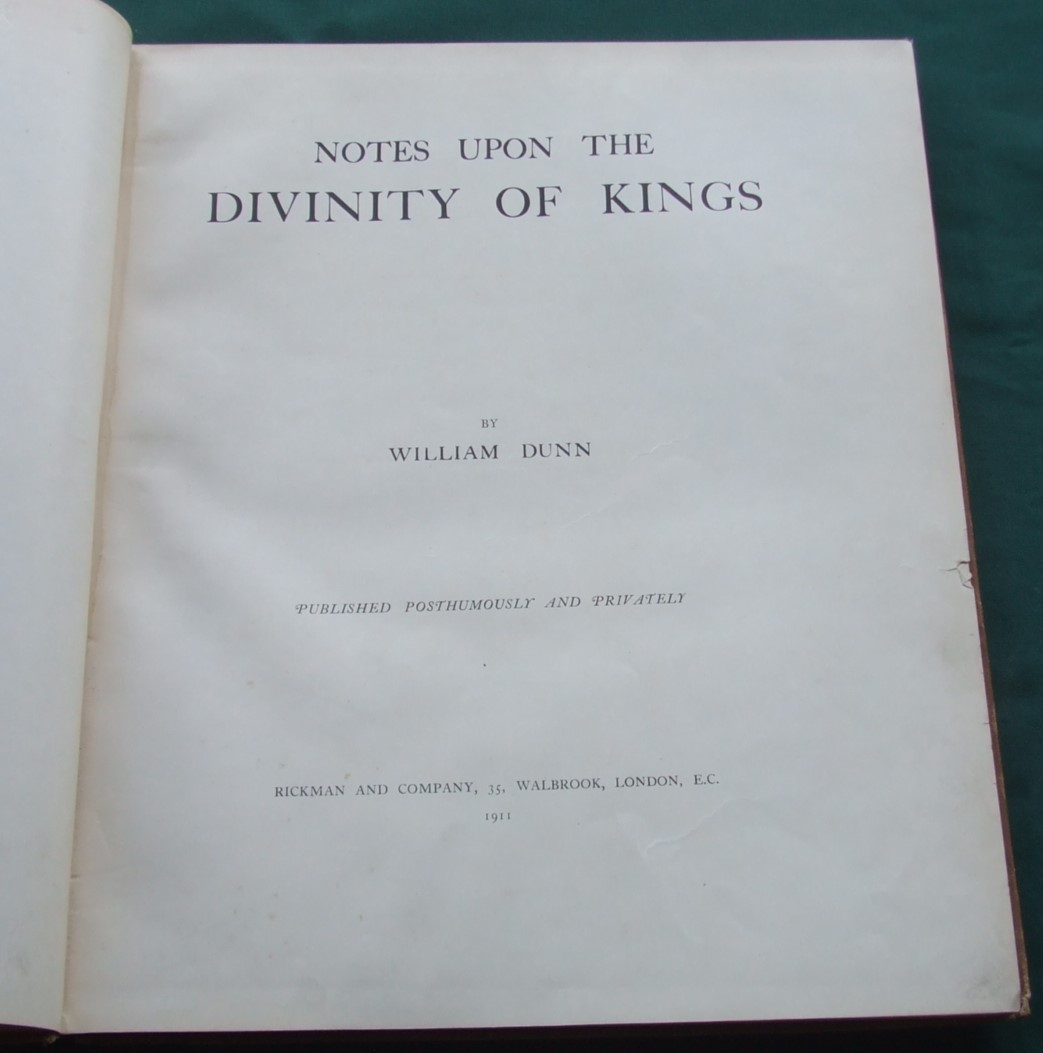Image for Notes Upon the Divinity of Kings
