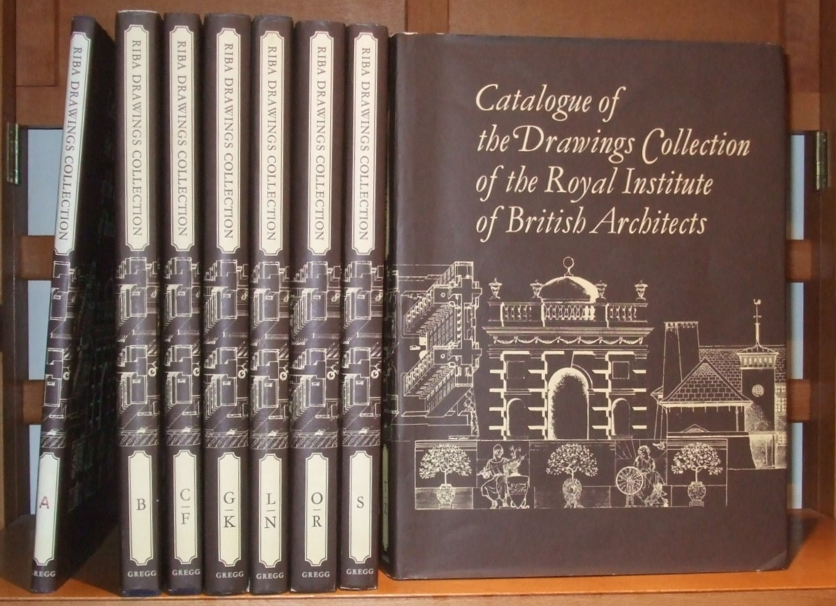 Image for Catalogue of the Drawings Collection of the Royal Institute of British Architects. ( Complete Set in 8 Volumes. Plus 10 Monographs ]