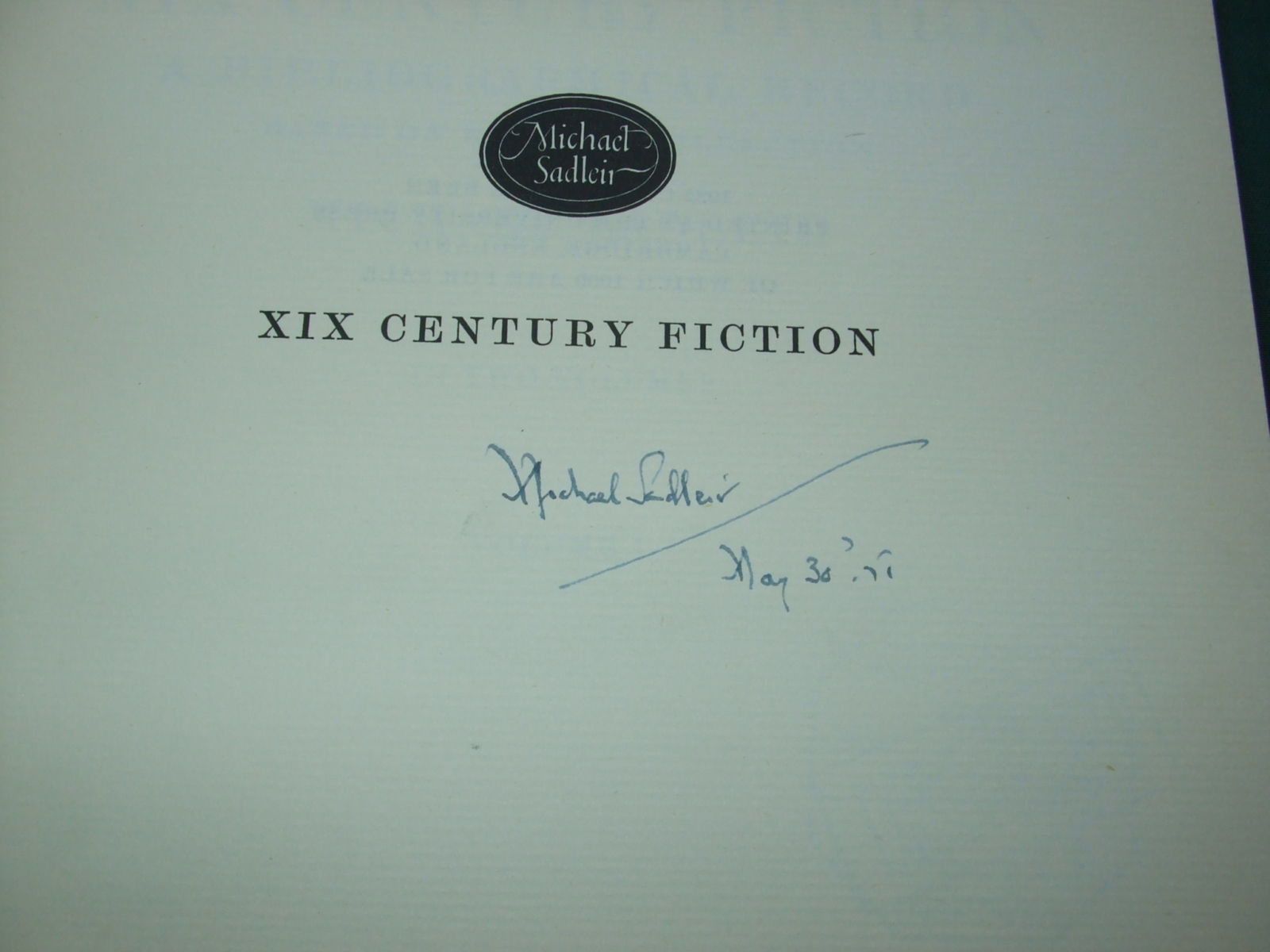 Image for XIX Century Fiction a Bibliographical Record Based on His Own Collection  [ Signed Copy ]