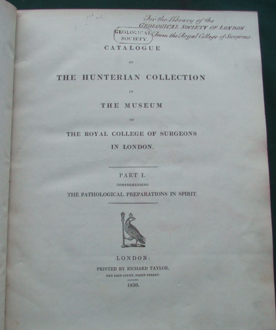 Image for Catalogue of the Hunterian collection in the Museum of the Royal College of Surgeons in London [ 6 Parts in 1 Volume ]
