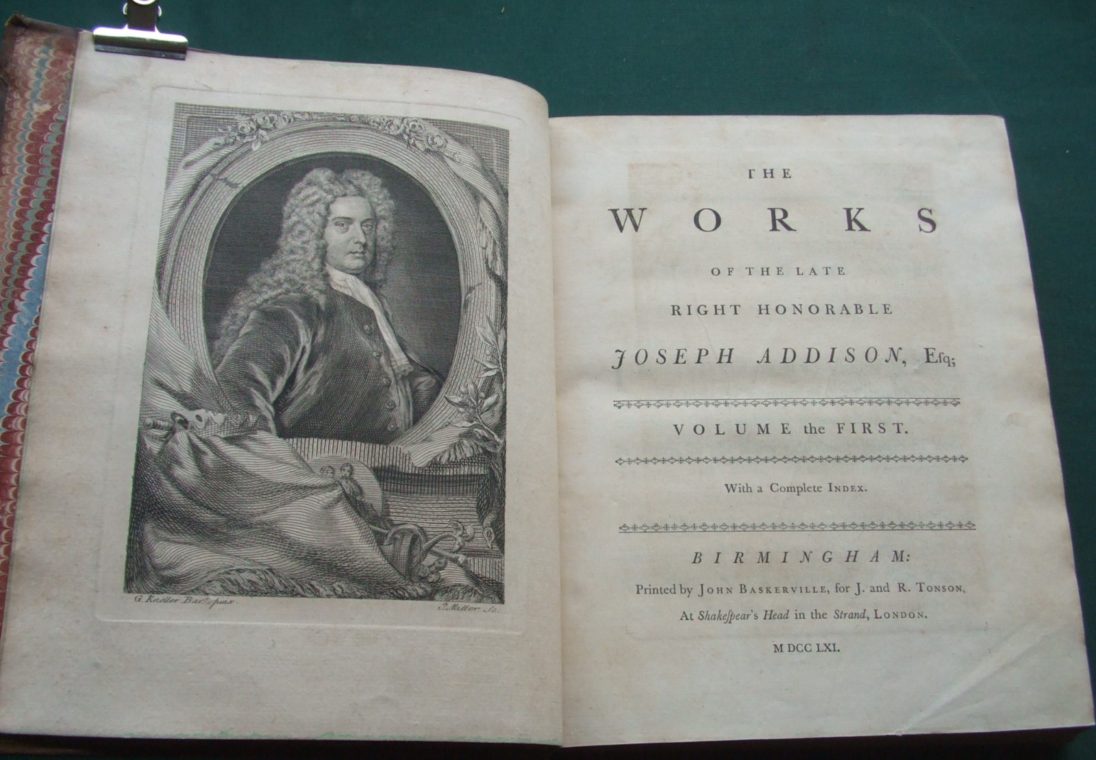 Image for The Works of the Late Right Honorable Joseph Addison [ Complete in 4 Volumes ]