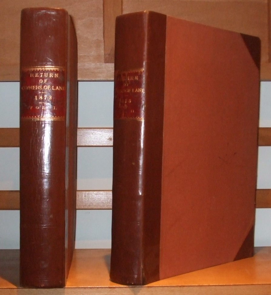 Image for Return of Owners of Land 1873 [ Complete in 2 Volumes. Nice Set ]
