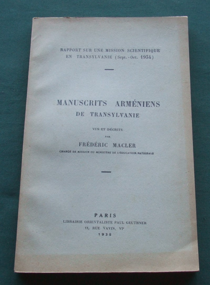 Image for Manuscrits armniens de Transylvanie [Collection : Langues Orientales Vivantes]