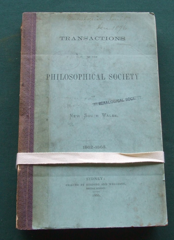Image for Transactions of the Philosophical Society of New South Wales [ 1862-1865 ]
