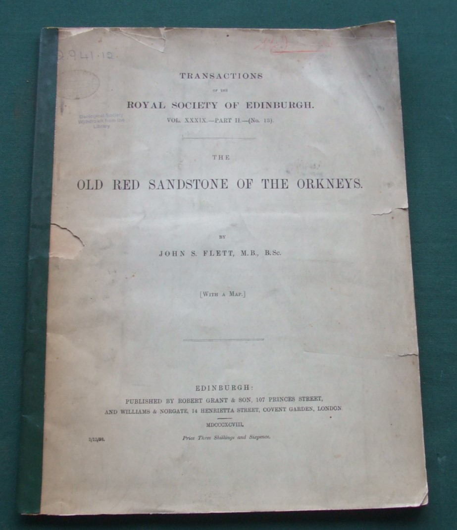 Image for Old Red Sandstone of the Orkneys [ Royal Society ]