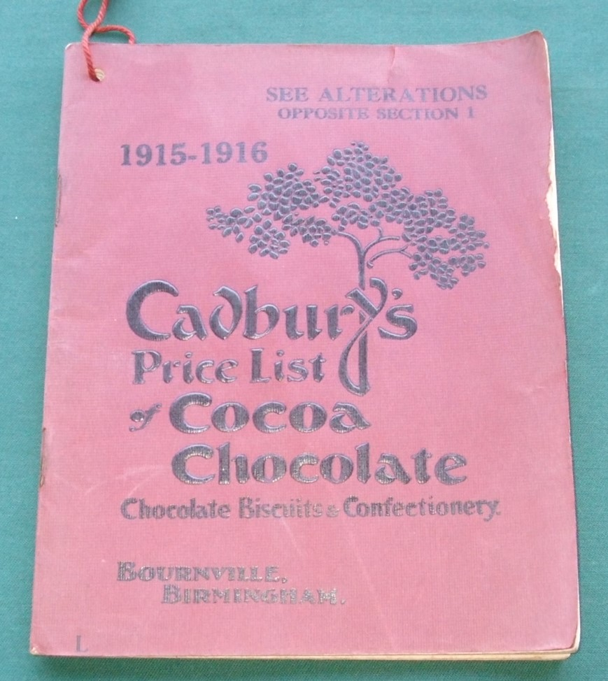 Image for Cadbury's Price List of Cocoa Choclate Chocolate Biscuits & Confectionery  1915-1916