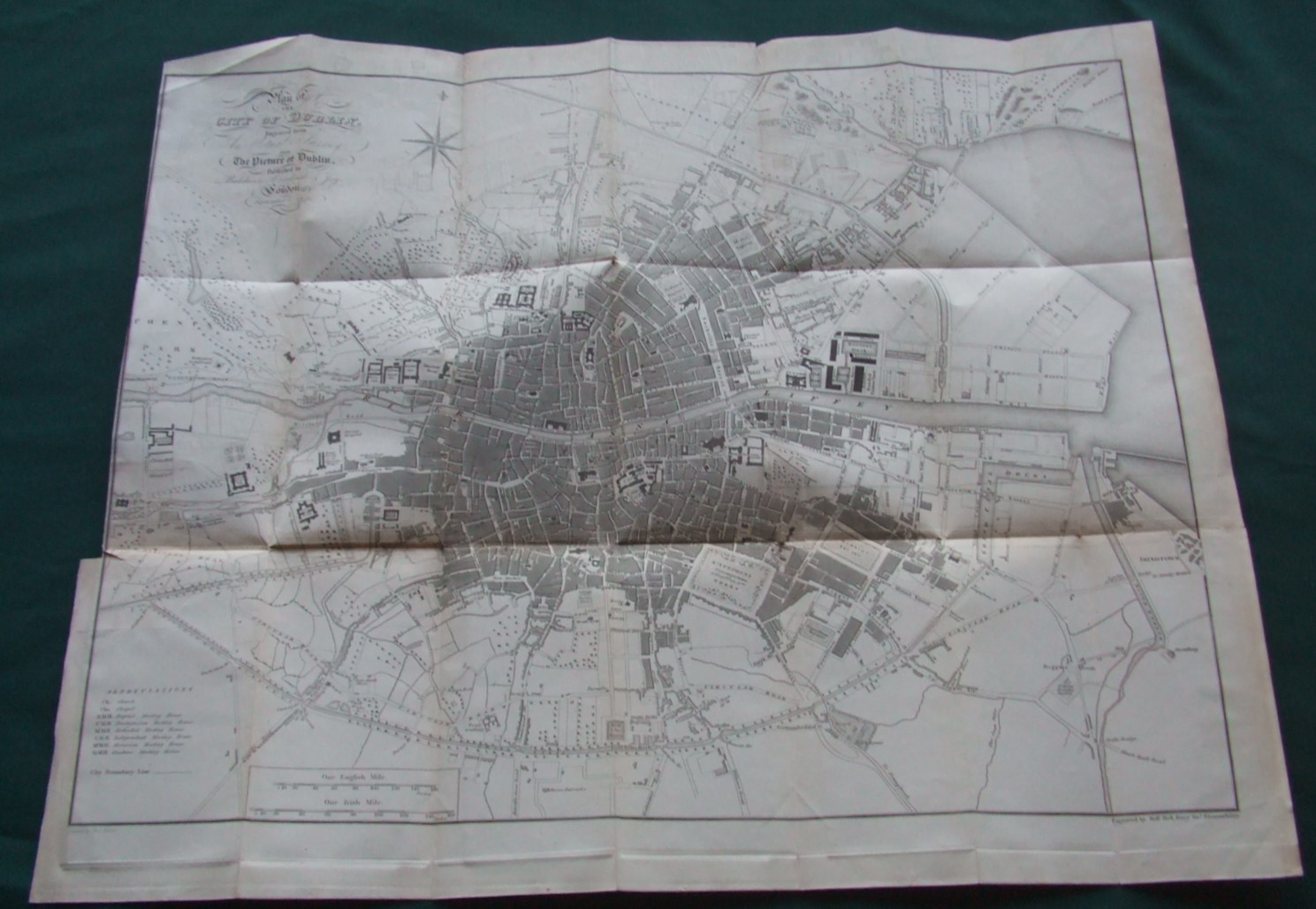 Image for Dublin. Plan of the City of Dublin Engraved from the Actual Survey For the Picture of Dublin