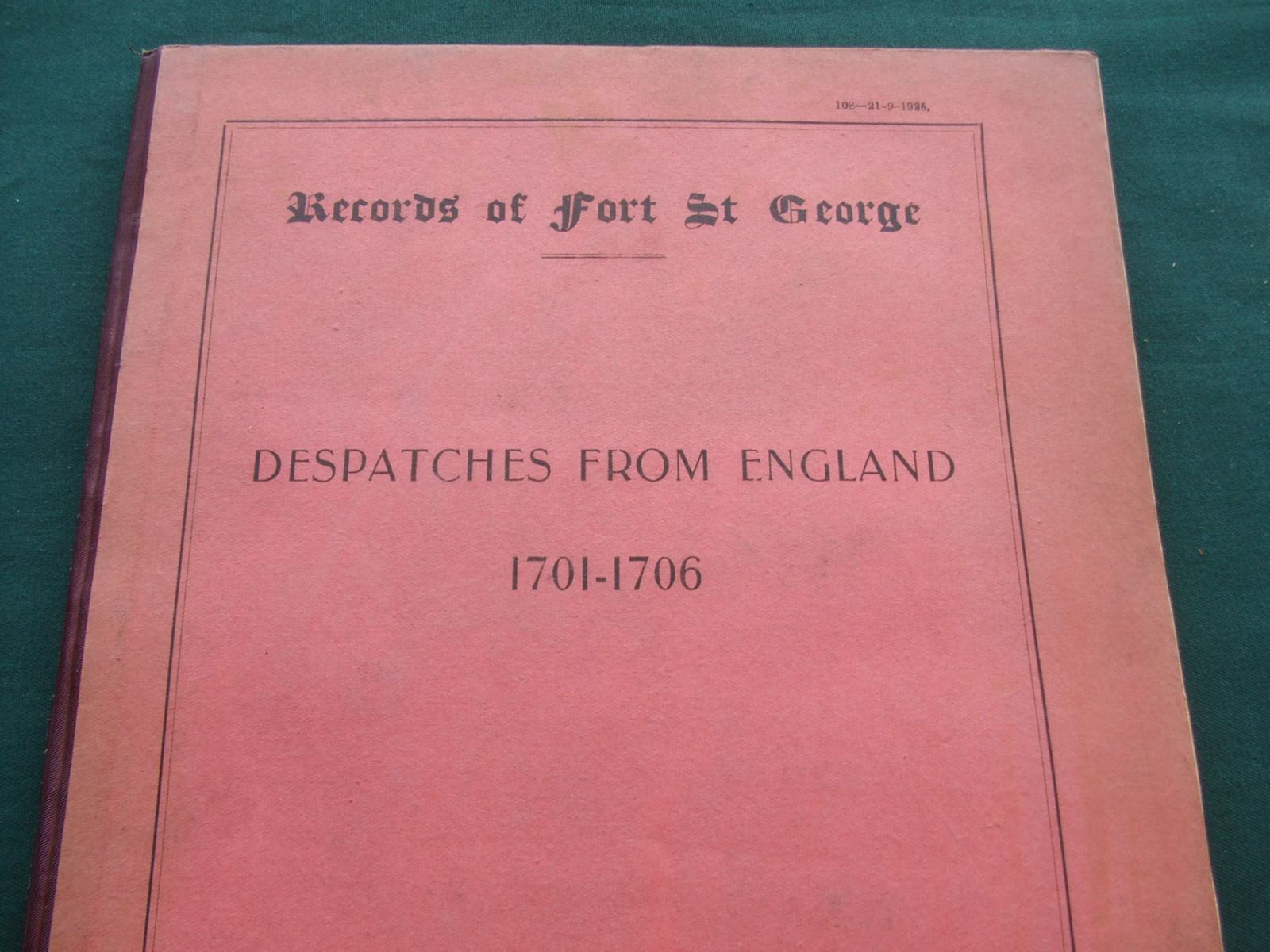 Image for Records of Fort St. George [ Despatches from England 1701-1706 ]