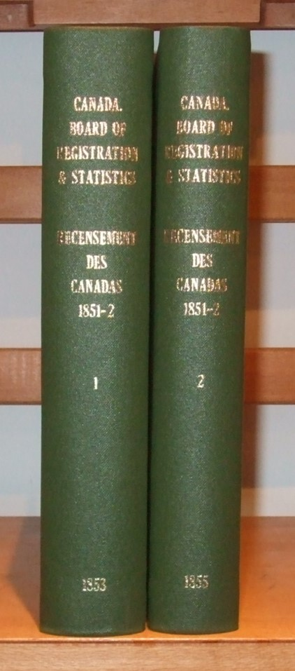 Image for Recensement Des Canada 1851-2 [ Complete in 2 Volumes ]