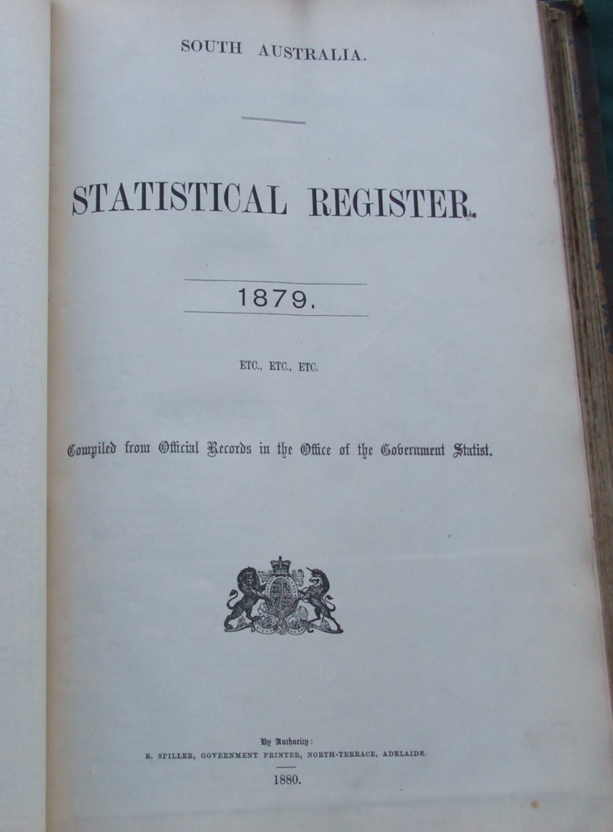 Image for South Australia Blue Book for the Year 1879. [ Bound with South Australia Statistical Register for 1879 ]