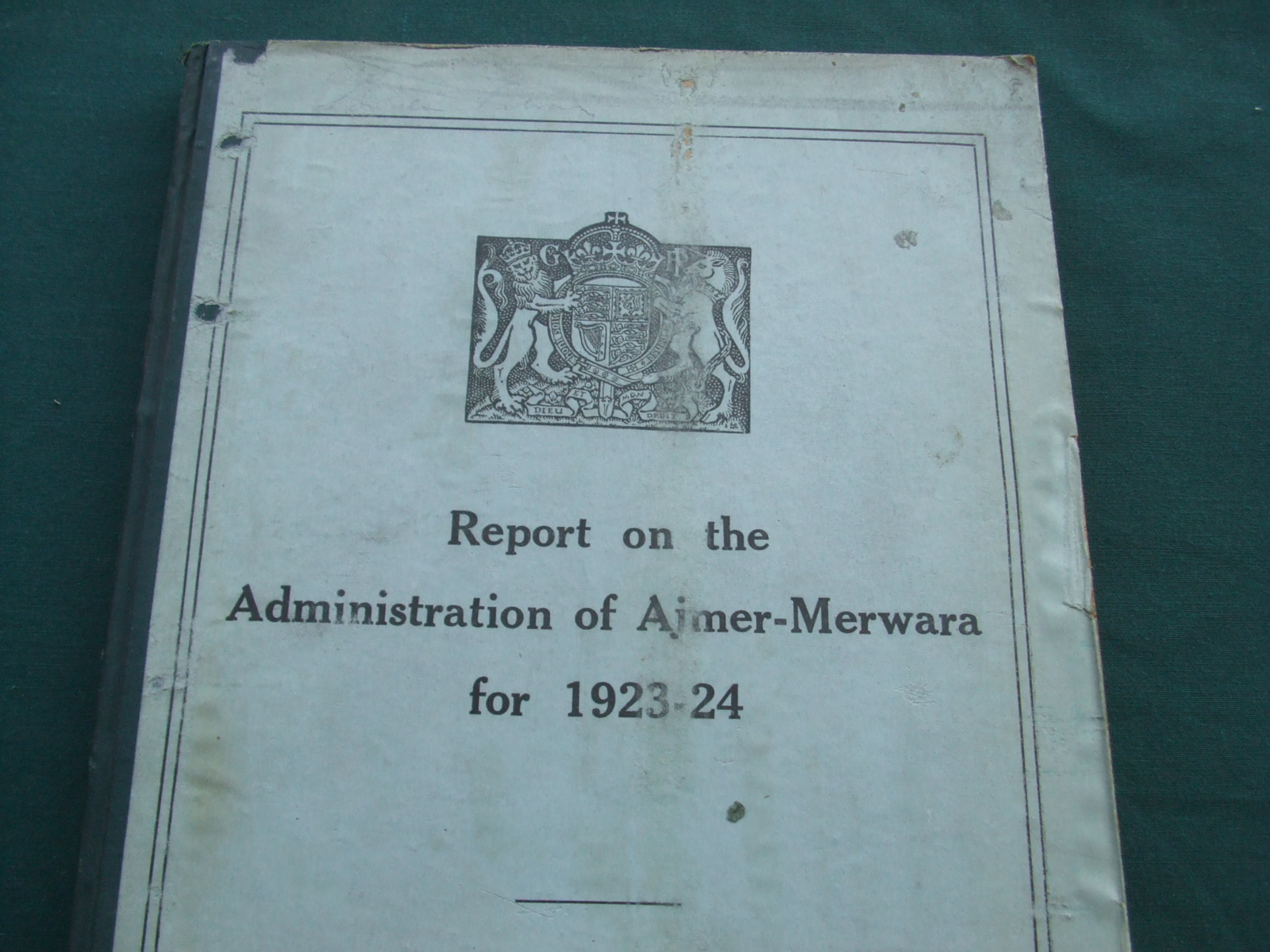 Image for Report on the Administration of Ajmer-Merwara for 1923-24