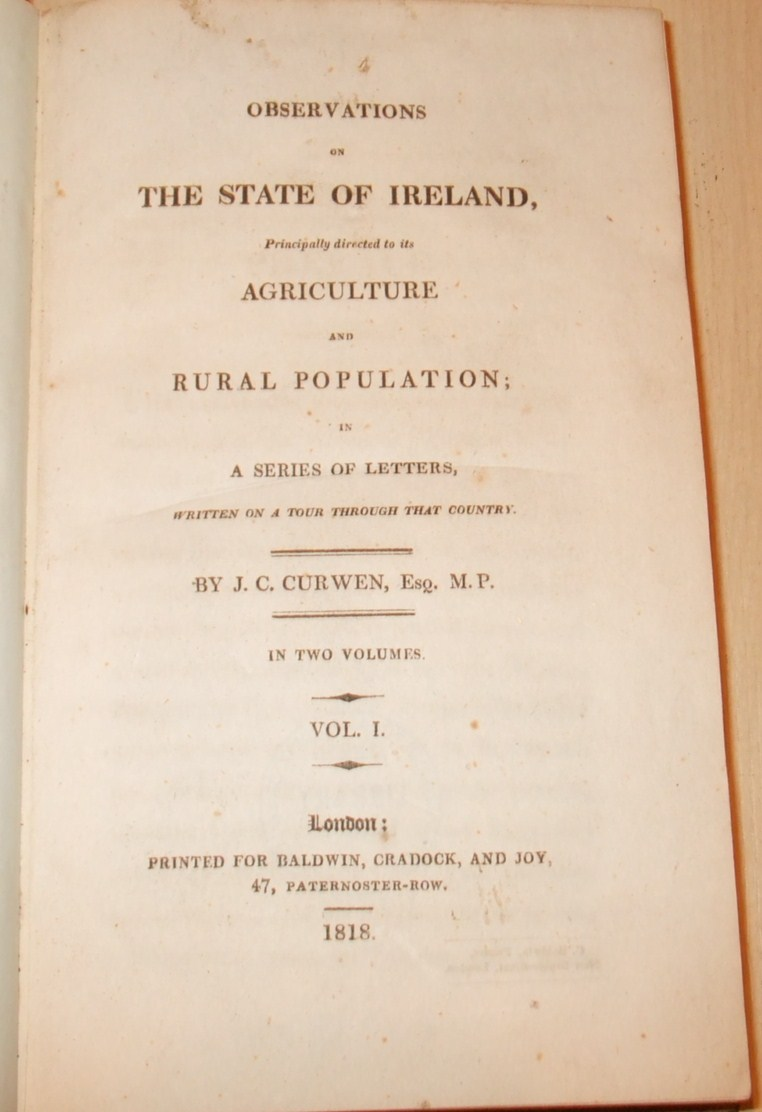 Image for Observations on the State of Ireland, Principally Directed to Its Agriculture and Rural Population; in a Series of Letters, Written on a Tour Through That Country