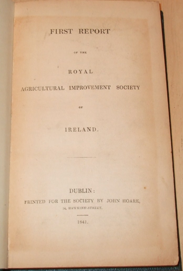 Image for Royal Agricultural Improvement Society of Ireland