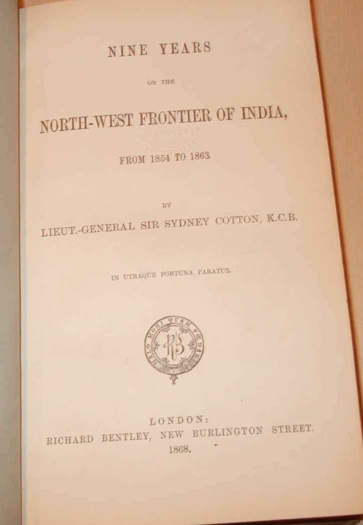 Image for Nine Years on the North West Frontier of India from 1854 to 1863