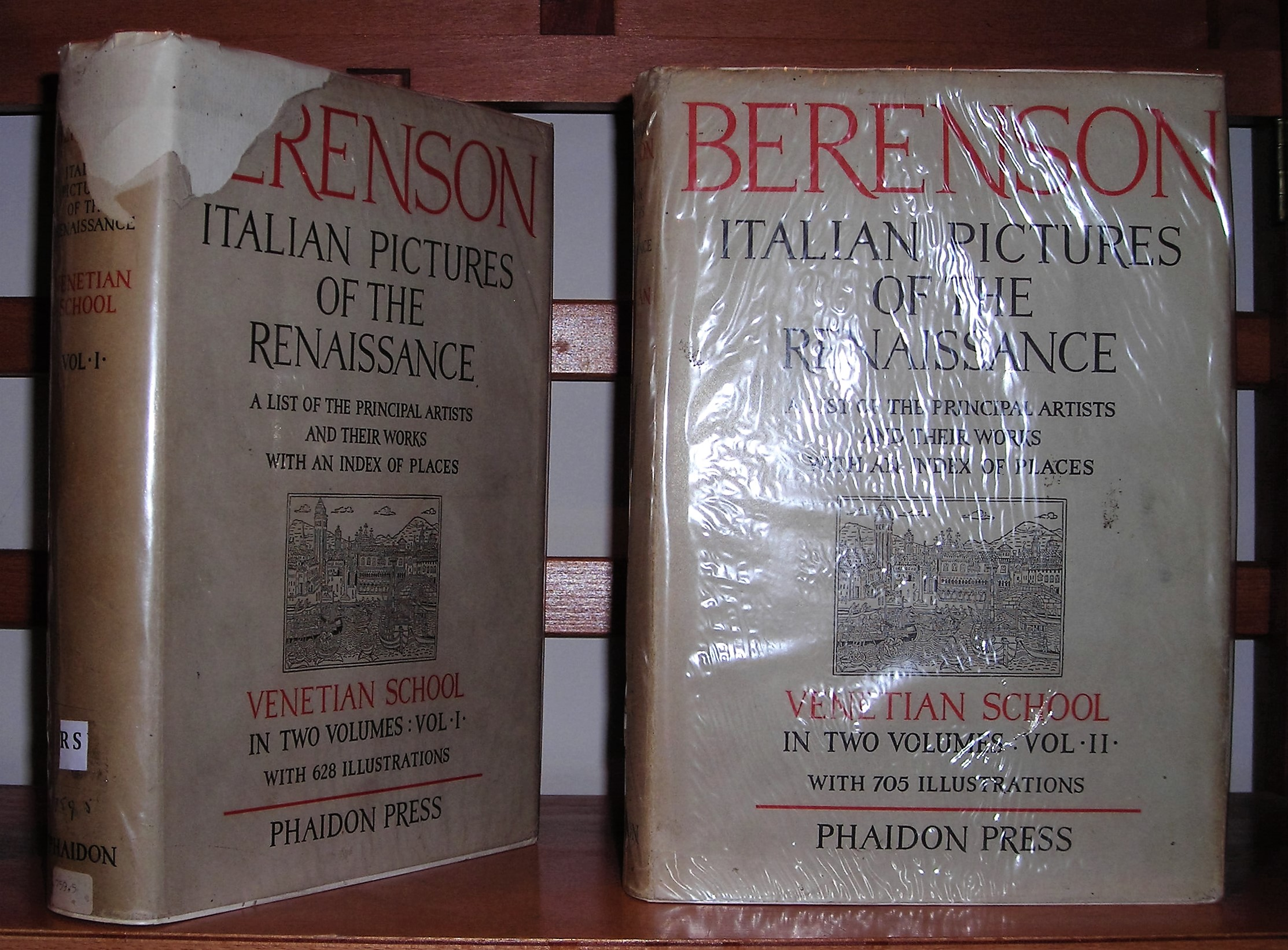 Image for The Italian Pictures Of The Renaissance - A List Of The Principal Artists And Their Works With An Index Of Places. Venetian School [ Complete in 2 Volumes ]