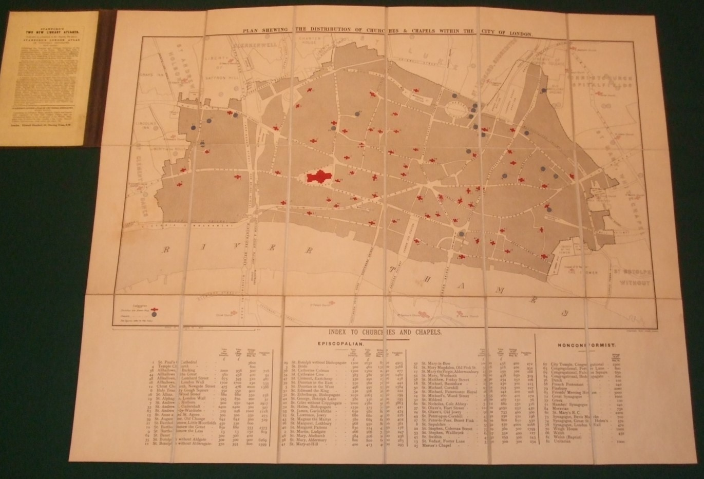 Image for Plan Showing the Distribution of Churches & Chapels Within the City of London