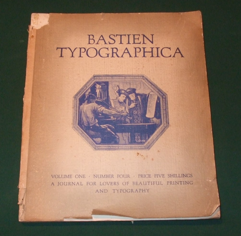 Image for Bastien Typographica [ Volume 1, Number 4. ]