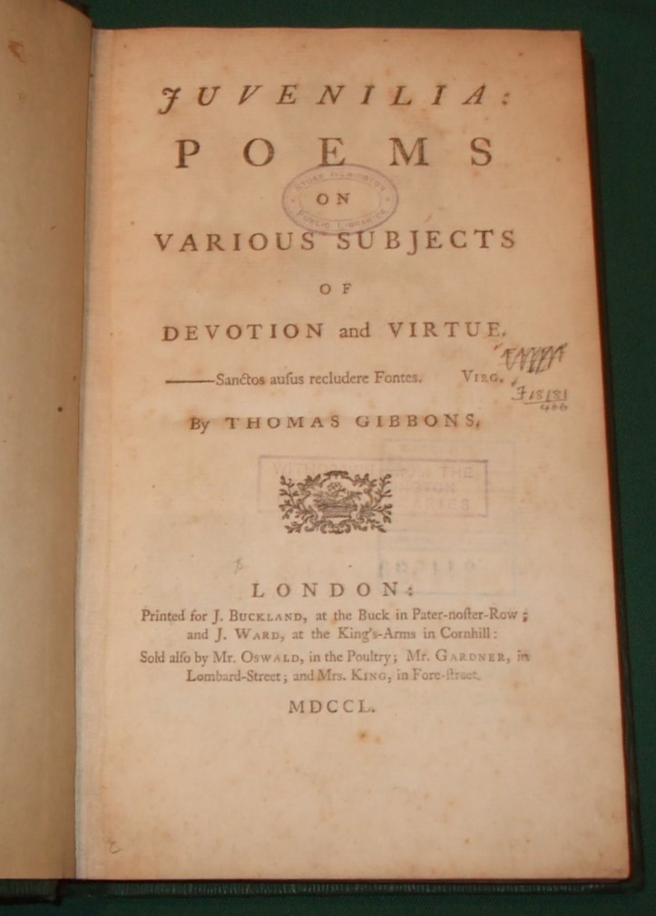 Image for Juvenilia: Poems on Various Subjects of Devotion and Virtue.
