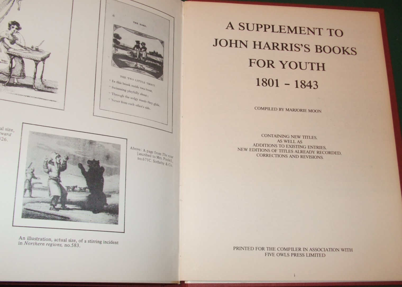 Image for John Harris's Books for Youth 1801-1843: With the Supplement Published in 1983: Checklist