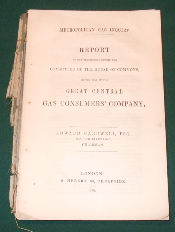 Image for Report of the proceedings before the Committee of the House of Commons, on the bill of the Great Central Gas Consumers' Company.
