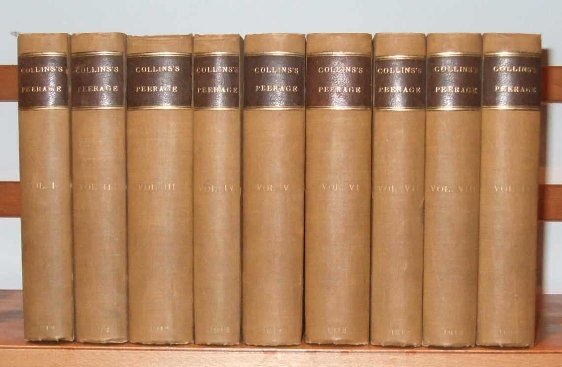 Image for Collins's Peerage of England; Genealogical, Biographical, and Historical. [ Complete set in 9 Volumes. ]