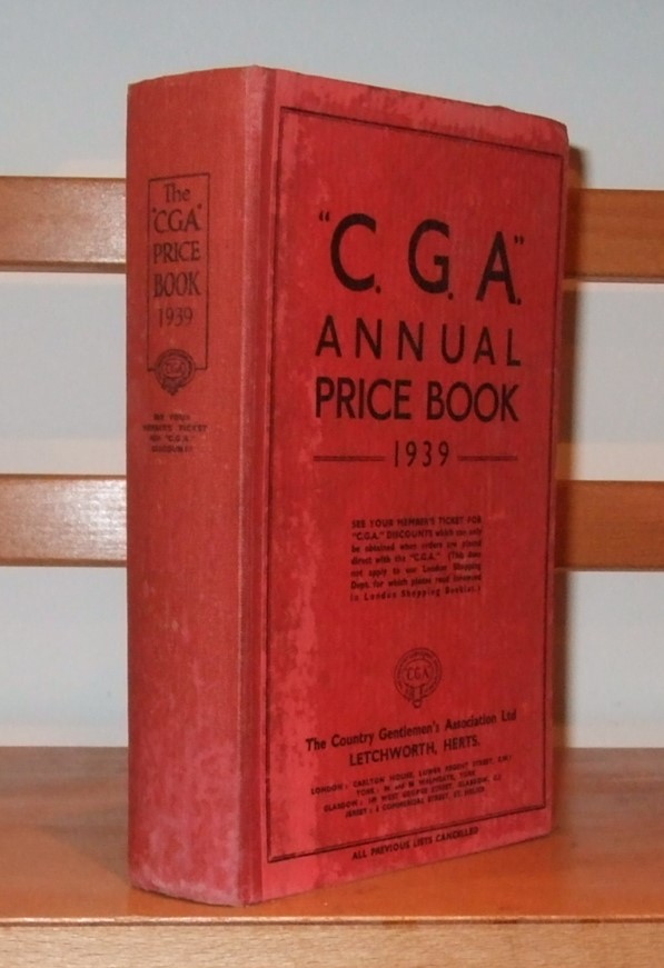 Image for Price Book of the C. G. A. Trading Department. 1939