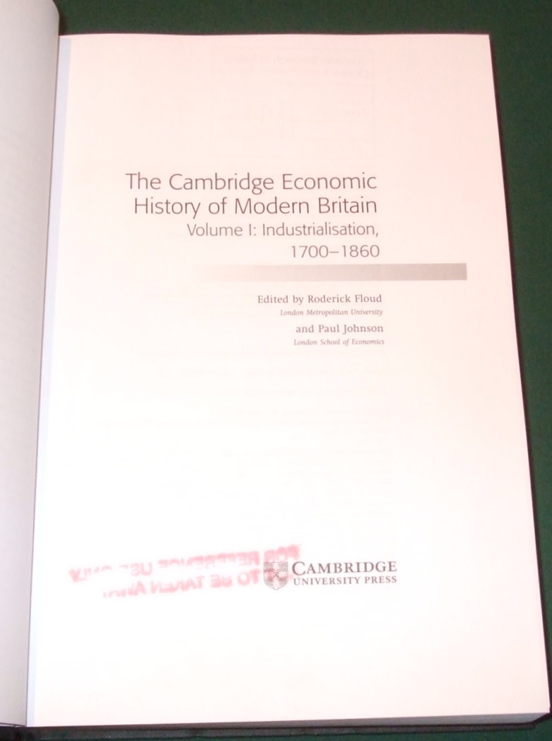 Image for The Cambridge Economic History of Modern Britain  [ Complete in 3 Volumes ]