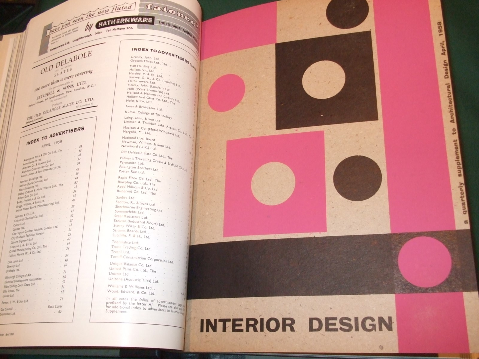 Image for Architectural Design [1958, 12 Issues, Full Year ]