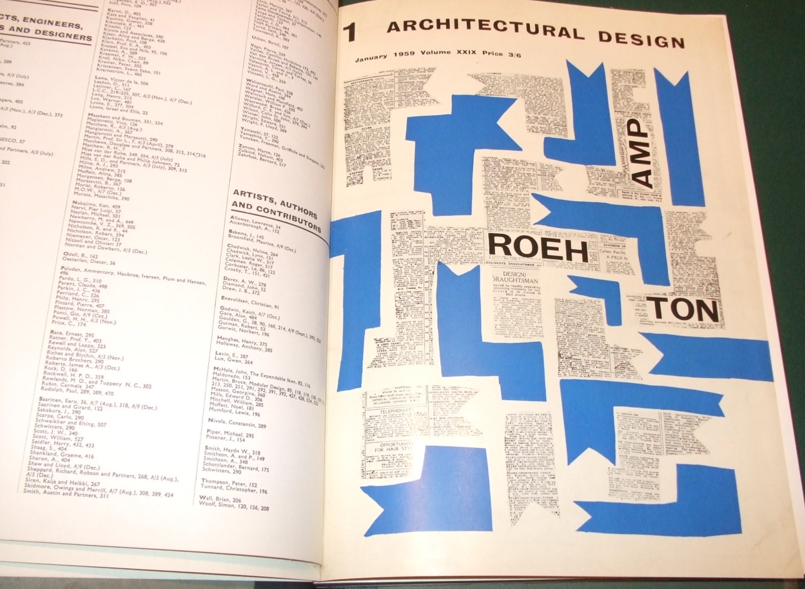 Image for Architectural Design [1959, 12 Issues, Full Year ]