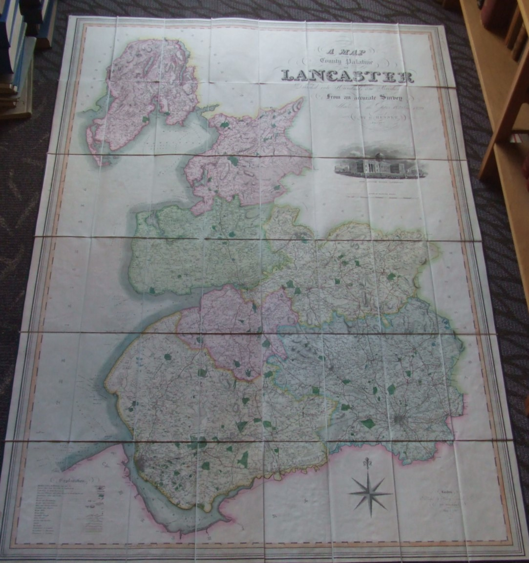 Image for A Map Of The County Palatine Of Lancaster Divided Into Hundreds And Parishes From An Accurate Survey Made In The Years 1828 & 1829