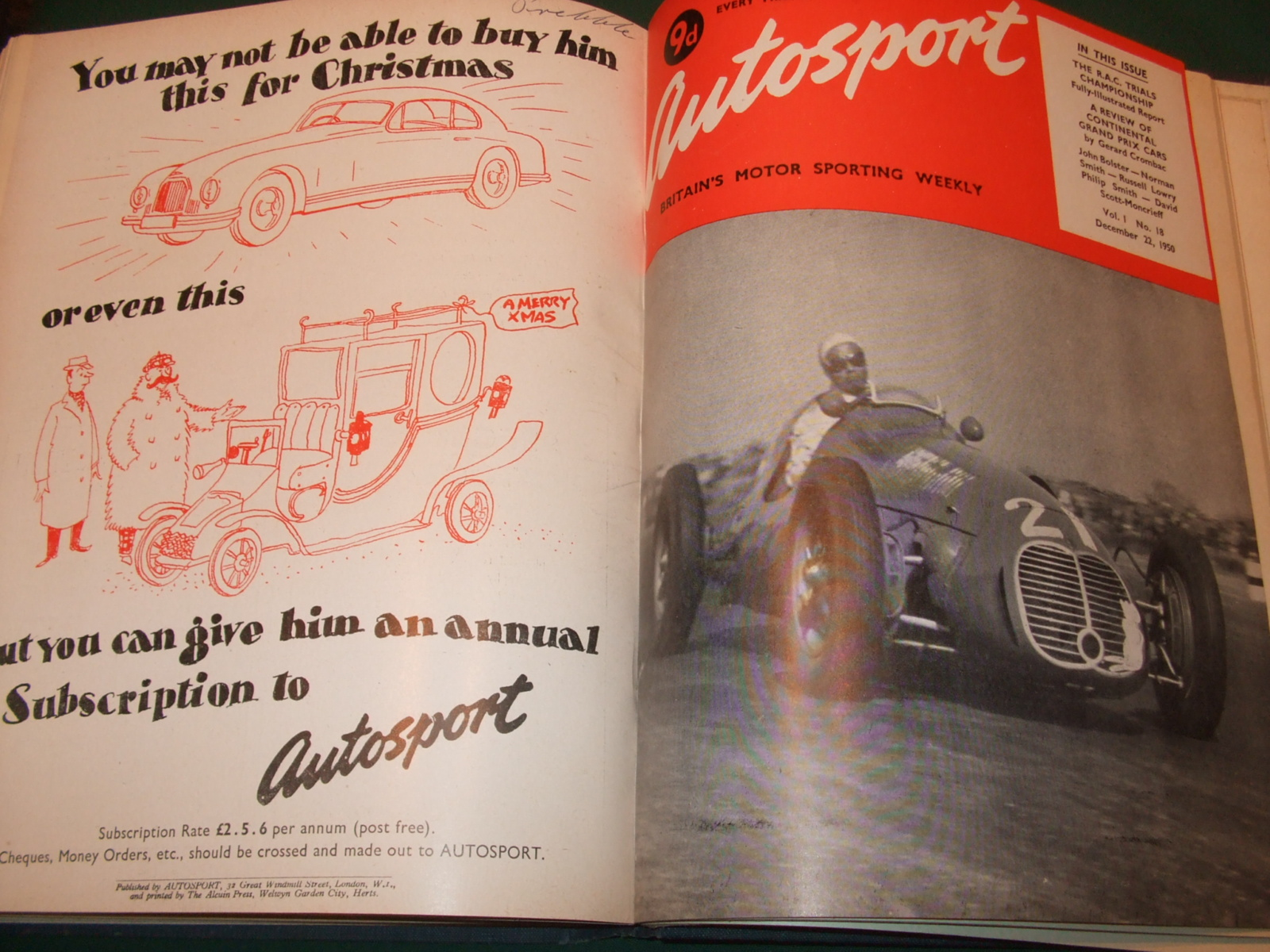 Image for Autosport [ 1950, 19 Issues ]