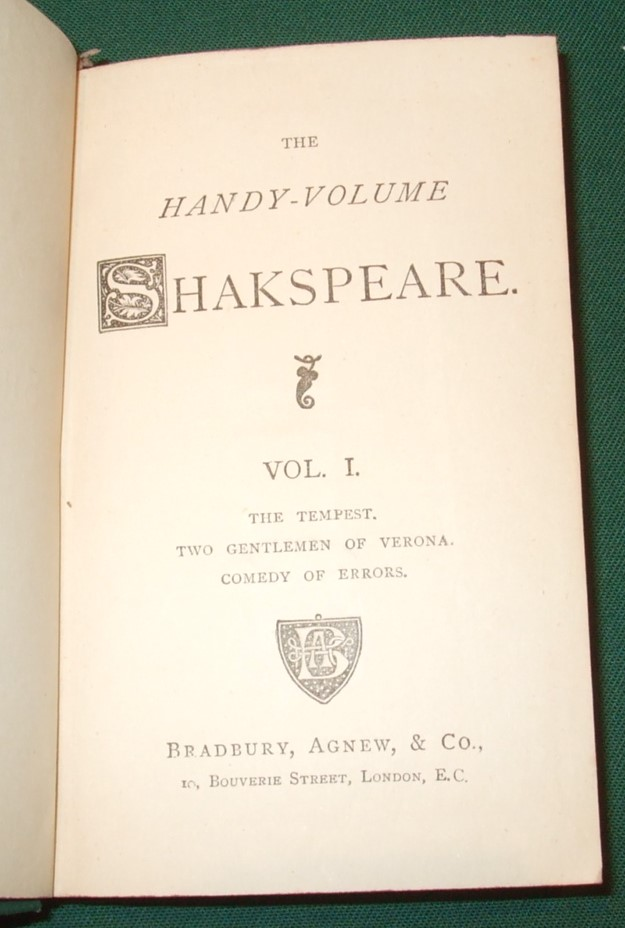 Image for The Handy-Volume Shakspeare [ Complete in 13 Volumes ]