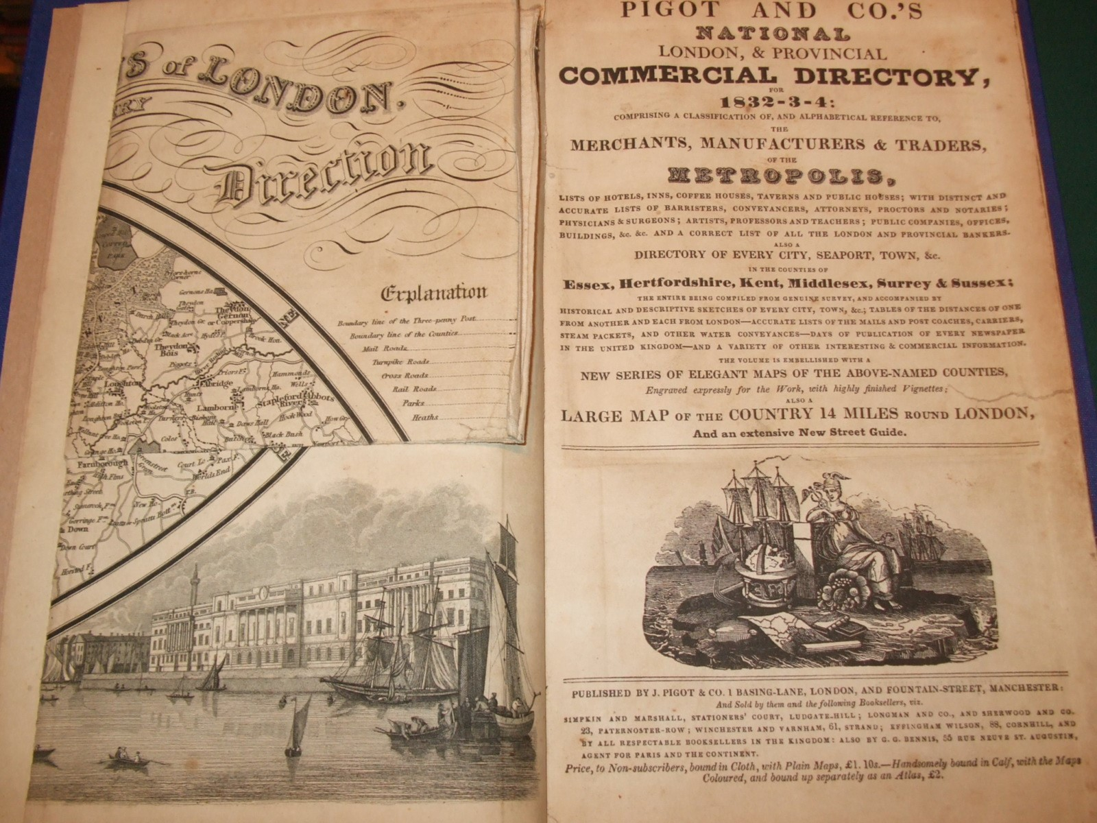 Pigot and Co 's national London and provincial commercial directory for  1832-3-4 : comprising     the merchants, manufacturers, and traders of the