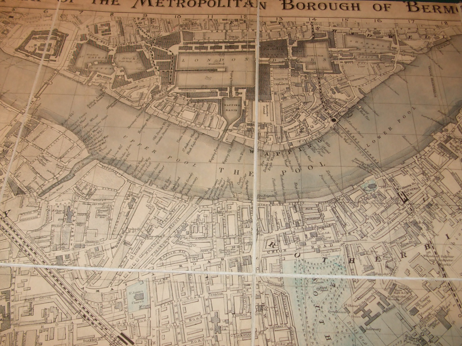 Image for Bermondsey. Map of the Metropolitan Borough of Bermondsey [ 1921 ]