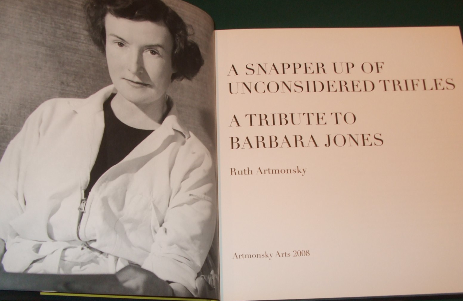 Image for A Snapper Up of Unconsidered Trifles a Tribute to Barbara Jones