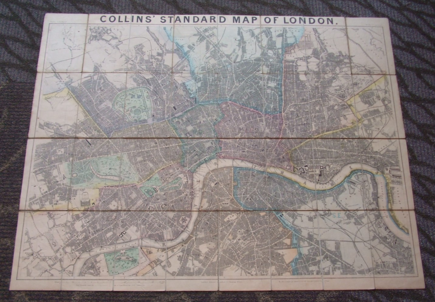 Image for Collins' Standard Map of London [ Large Coloured Map ]