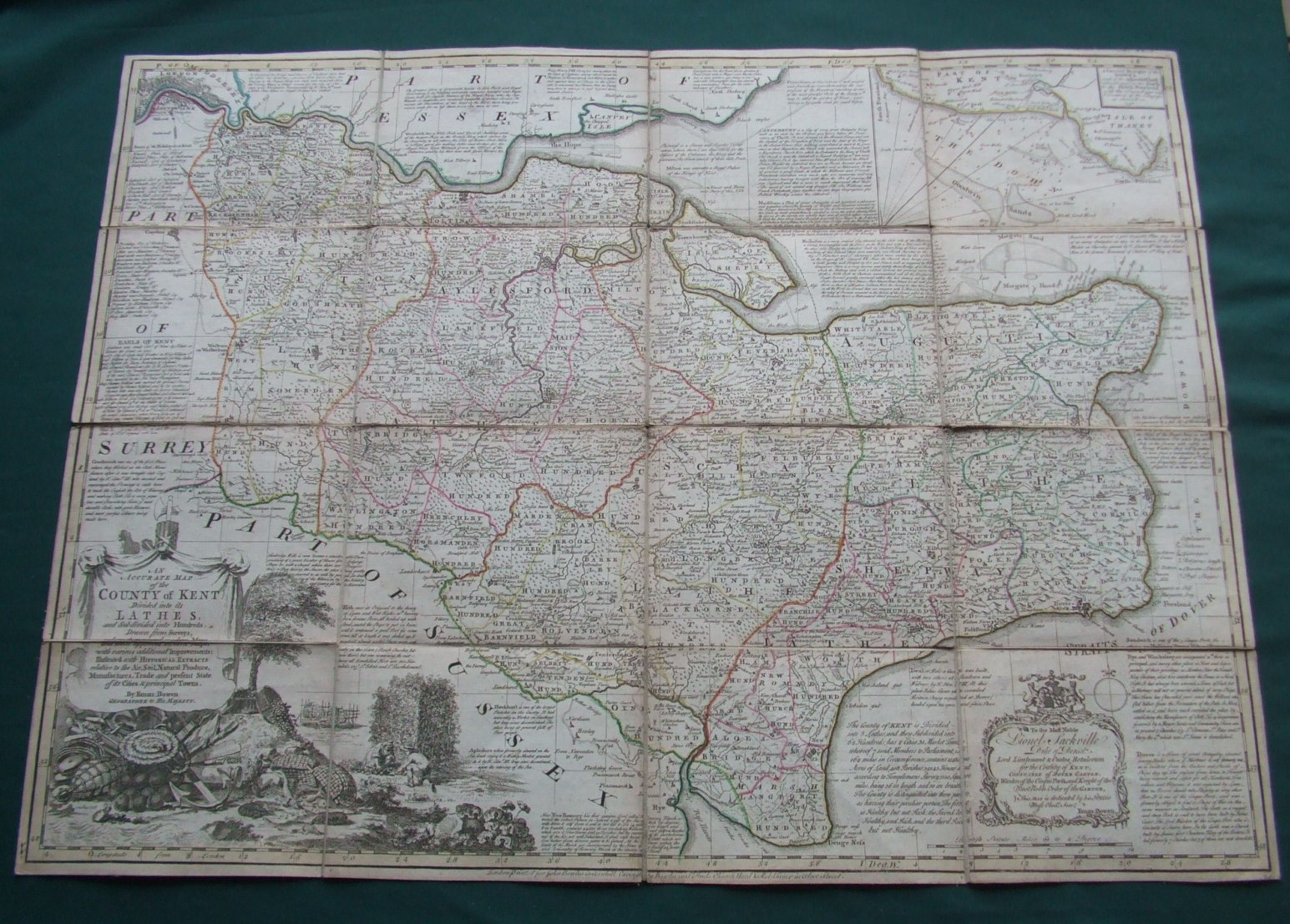 Image for An Accurate Map of the County of Kent Divided into its Lathes,