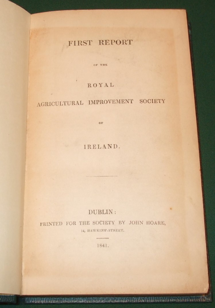 Image for first report of the royal agricultural improvement society of Ireland  [ 5 Reports  ]