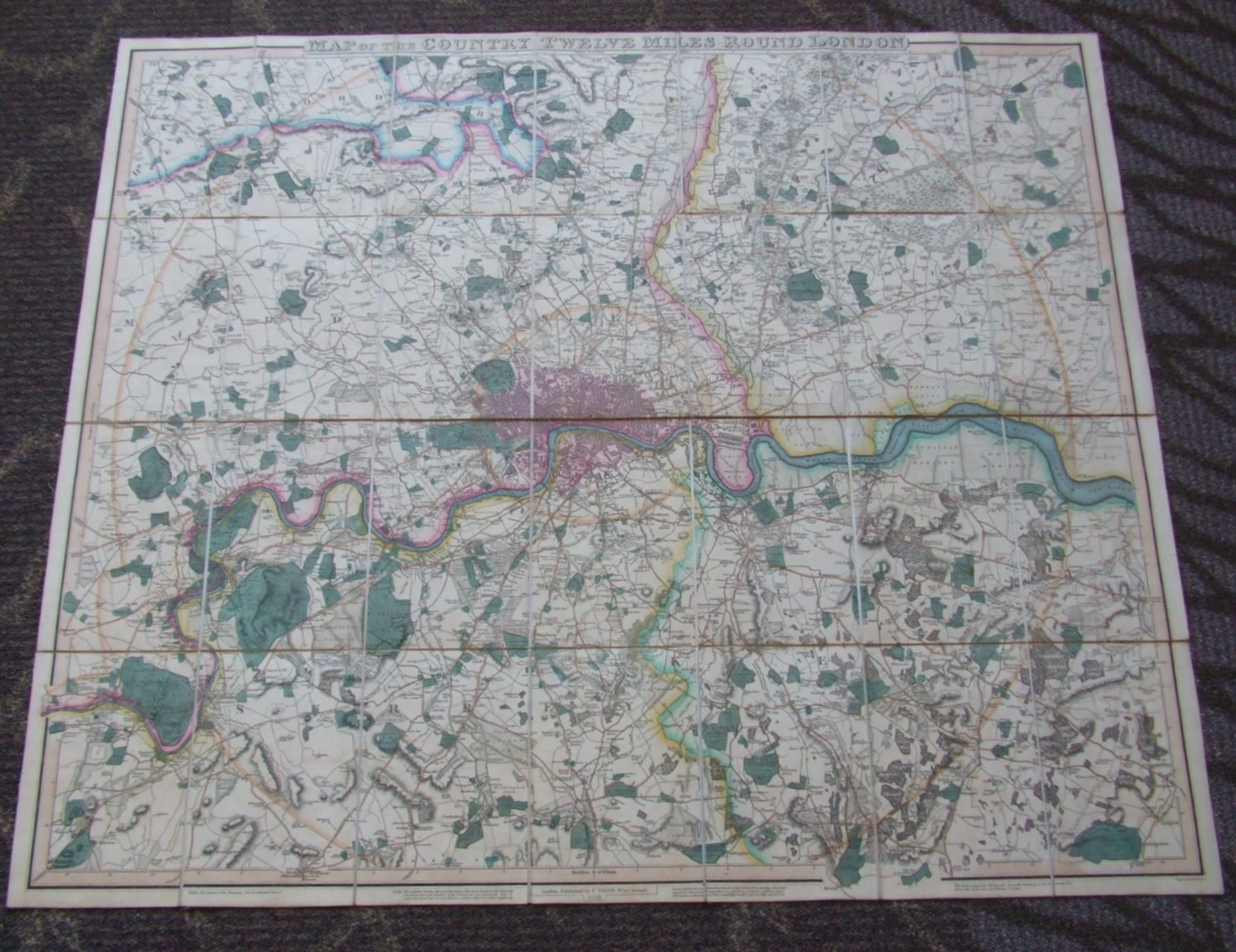 Image for London [ Map of the Country Twelve Miles Round London ]