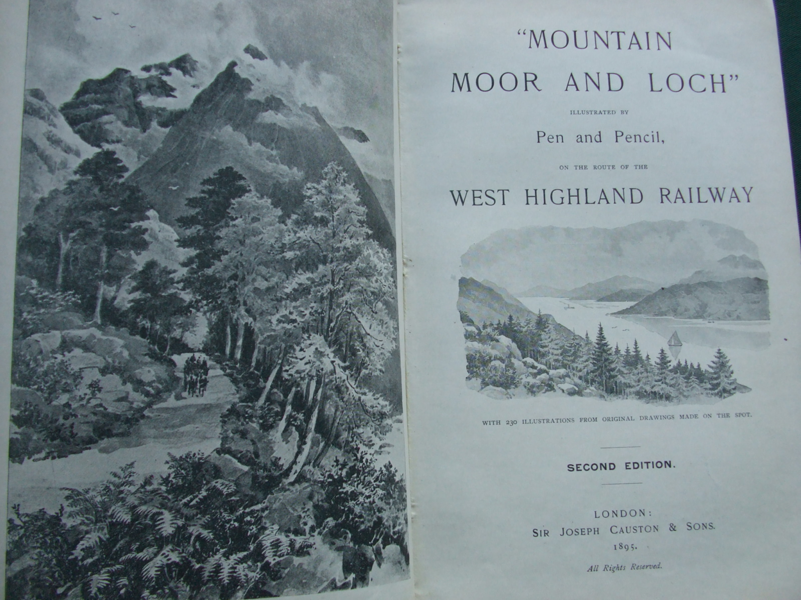 Image for Mountain, Moor and Loch' illustrated by Pen and Pencil on the route of the West Highland Railway