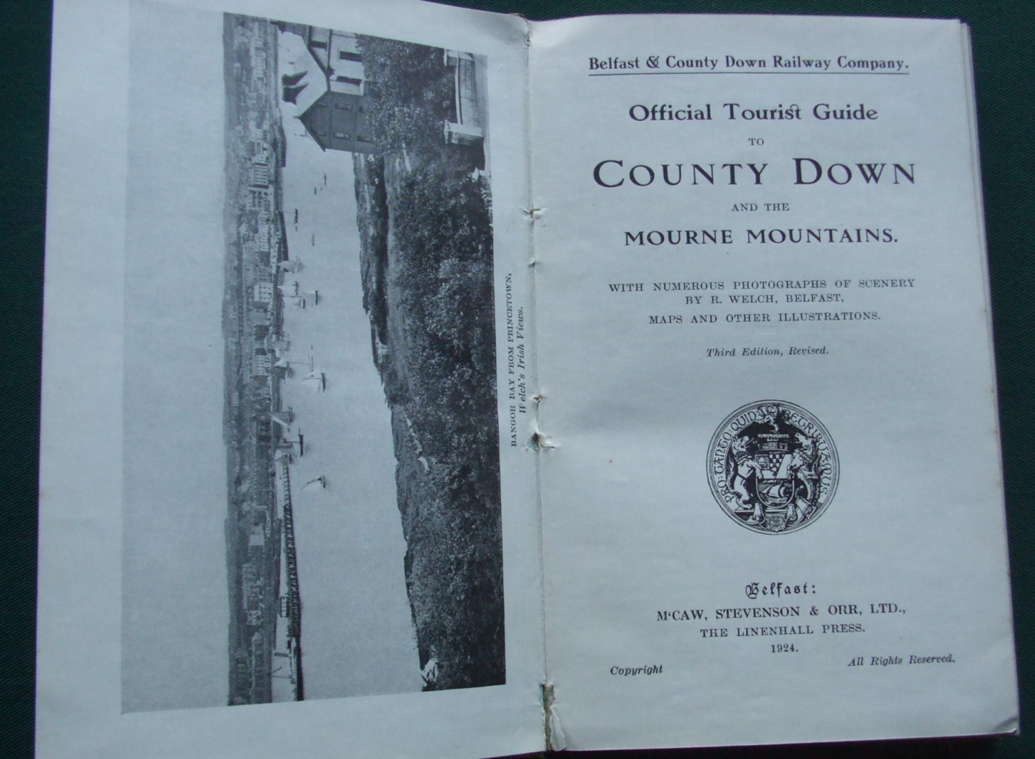Image for Official Tourist Guide to County Down and the Mourne Mountains with Numerous Photographs of Scenery