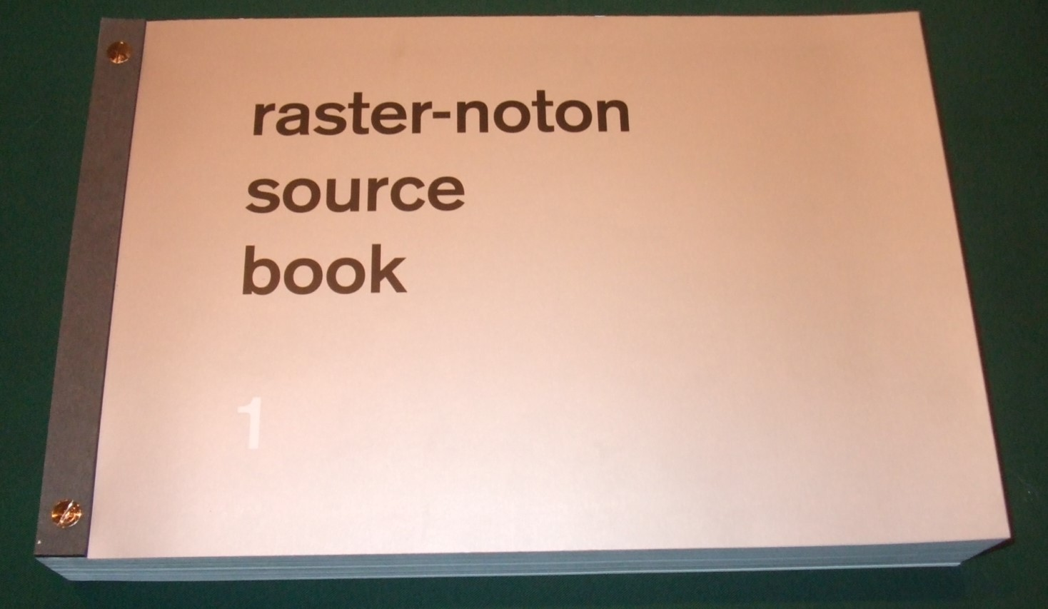 Image for Raster-noton Source Book 1 / Various