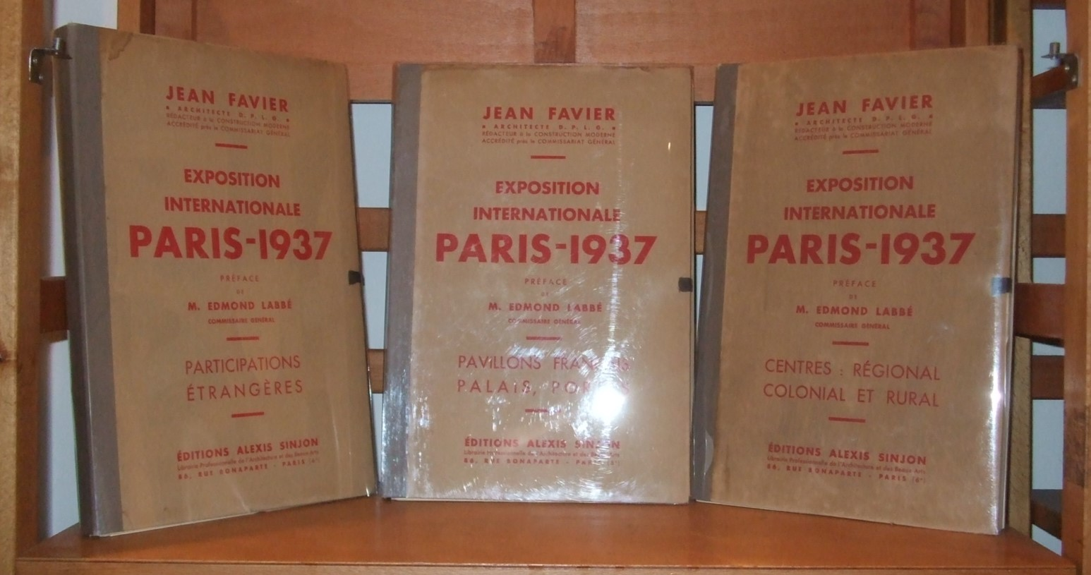 Image for Exposition Internationale Paris 1937 [ Complete in 3 Volumes ]