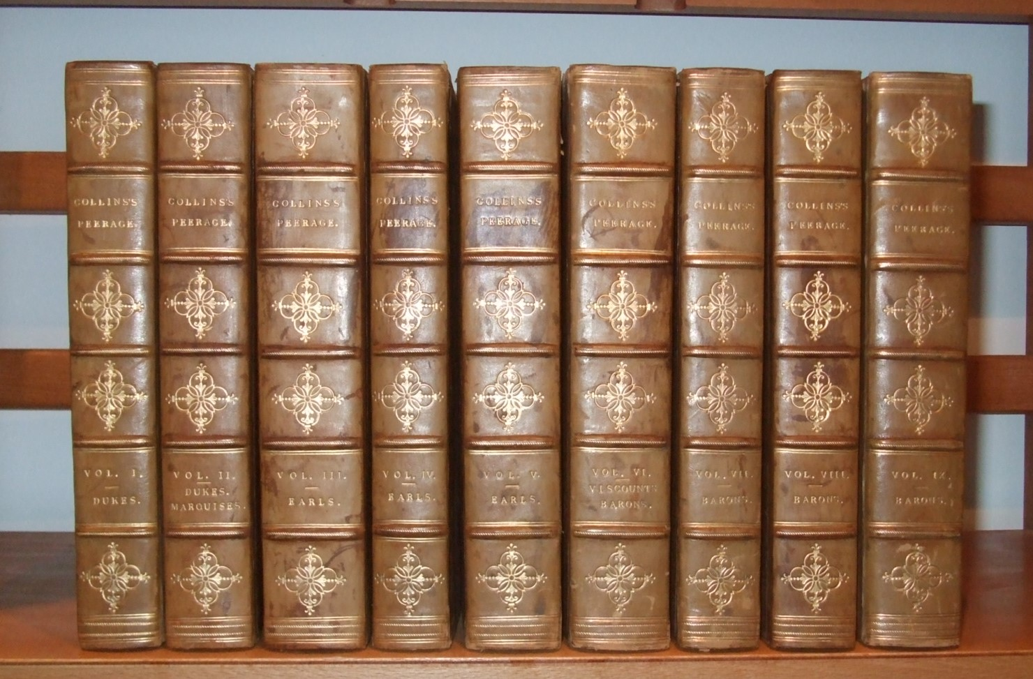 Image for Collins's Peerage of England Genealogical, Biographical, and Historical [  Complete in 9 Volumes. Leather Bound ]