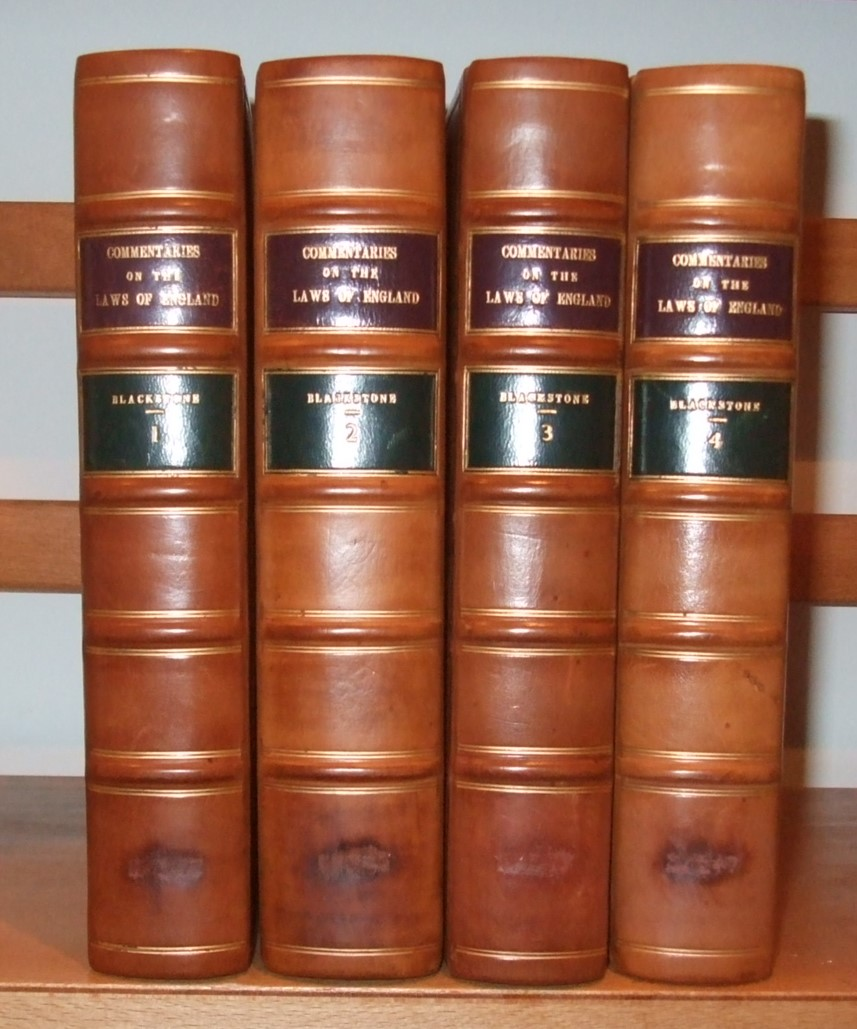 Image for Commentaries on the Laws of England in Four Books [ Complete Set. 4 Volumes ]