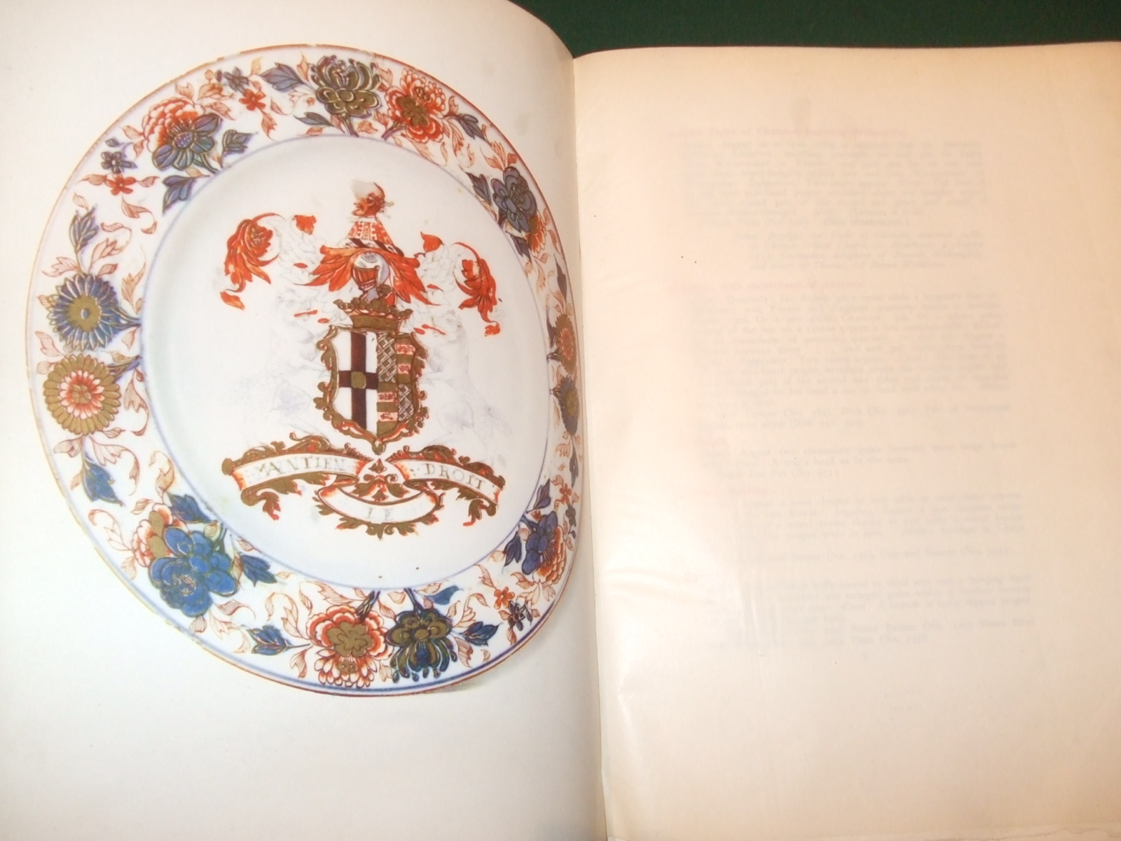 Image for Armorial China a Catalogue of Chinese Porcelain with Coats of Arms in the Possession of Frederick Arthur Crisp