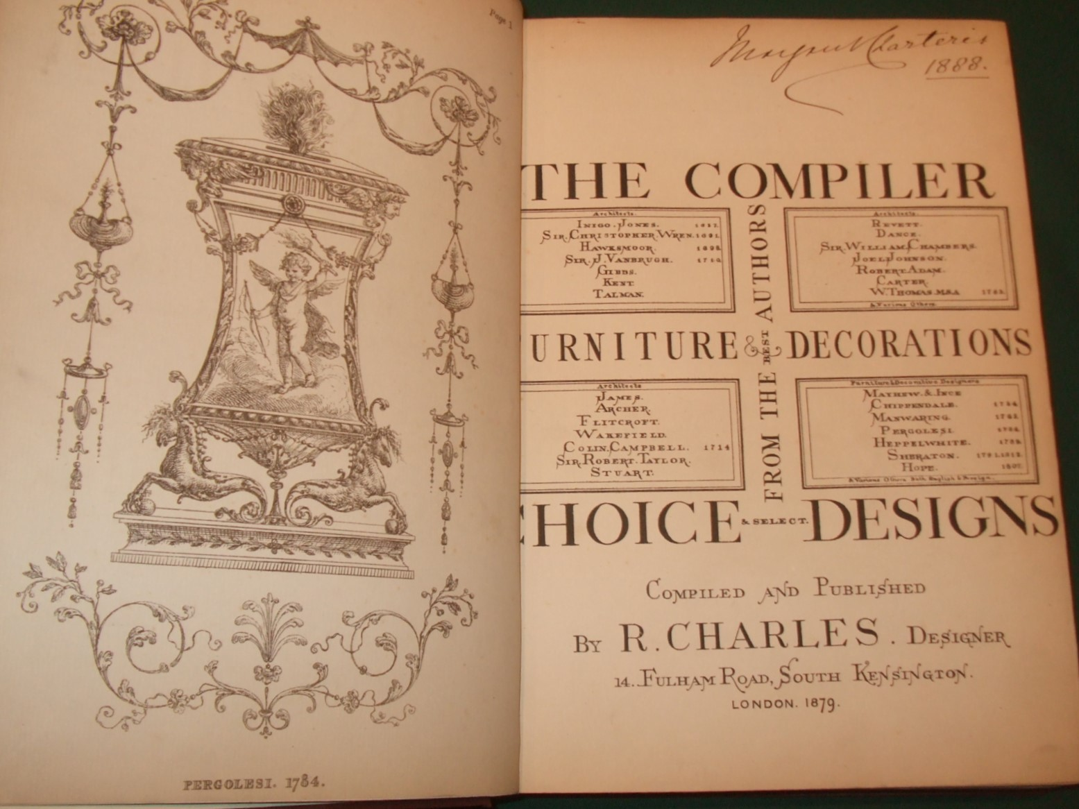 Image for The compiler, choice & select designs from the best authors, furniture & decorations. Compiled and published by R. Charles