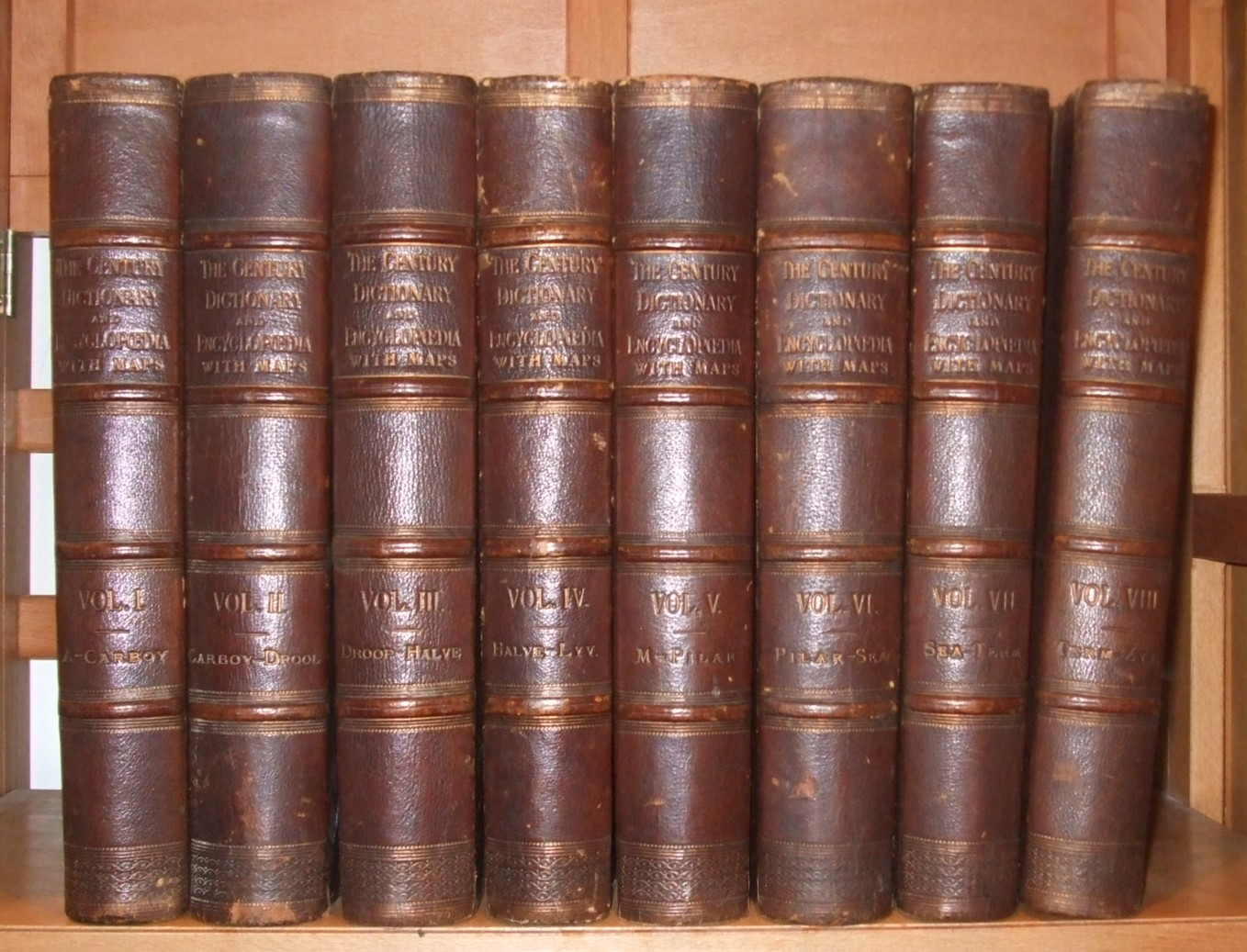 Image for The Century Dictionary an Encyclopedic Lexicon of the English Language [ Complete in 8 Volumes. Leather Bindings ]