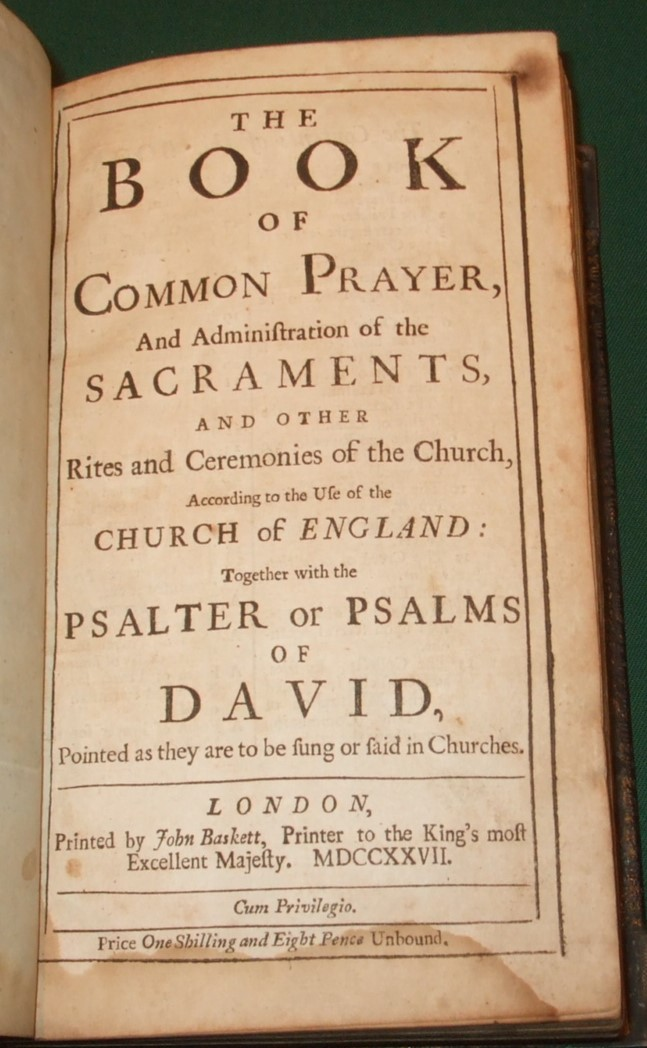 Image for The Book of Common Prayer [ Bound with. A Companion to the Lord's Table  & The Whole Book of Psalms ]
