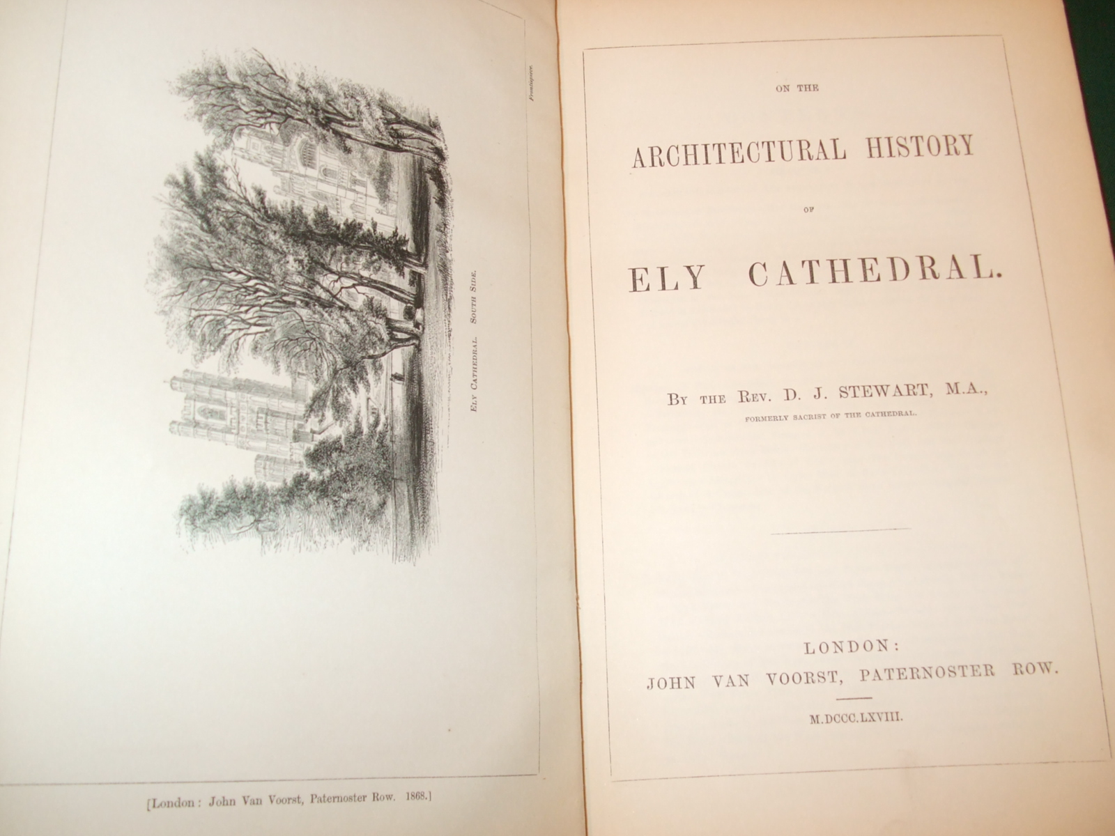 Image for On the Architectural History of Ely Cathedral